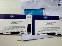 2 x Genesis Tickets, o2, Monday 11/10/21