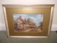 Old Painting of cottage good condition