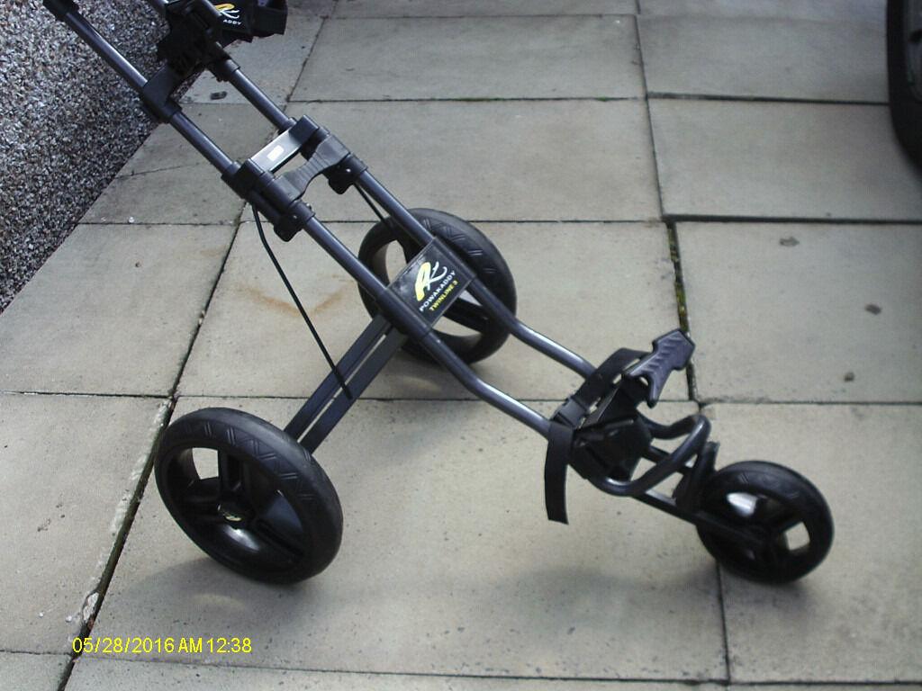 3 Wheel Bullet Easy Fold Golf Trolley In Clitheroe