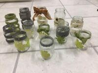 Lovely HANDMADE VINTAGE Jars suitable For WEDDINGS~USED ONCE~72 Jars AVAILABLE