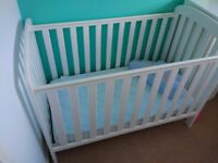 Cot Bed, white, solid wood