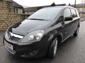 Vauxhall Zafira 1.7 16v CDTI EcoFlex Design 2012 - Black-FSH – Heated Seats & Park Aid Top Spec