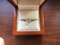 18Ct White Gold Diamond Engagement Ring, Certified Diamond with IGI Certification