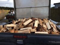 Firewood trailer load
