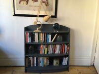 Vintage Grey Painted Art Deco Bookshelves Bookcase
