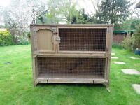 Used double storey hutch