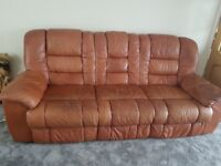 large sofa 3 seaters 2seats in real leather