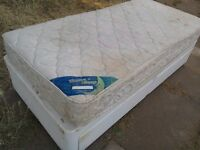 Single divan bed. With drawers.