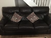 DFS 3 & 2 seater leather settee