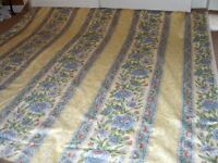Approx 15 m Upholstery fabric in Blue and yellow flower pattern Du Pont Teflon soil resist finish