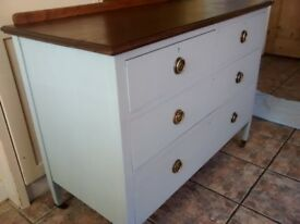 Chest of Drawers Edwardian Shabby Chic