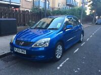 Honda Civic 1.6 i VTEC Executive 5dr Great Look & Condition, Very Economic, One Year MOT