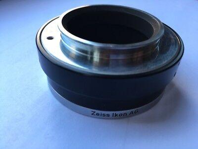 Zeiss Ikon Contarex Adapter für Fototubus Mikroskop Ringschwalbe Standard WL