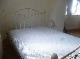 Kingsize Iron Bed Frame Cream