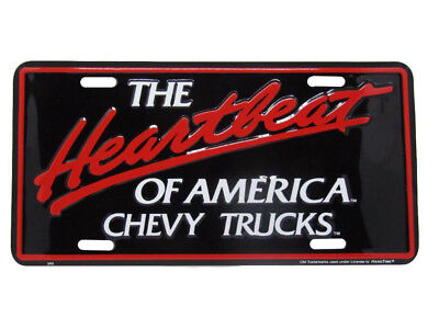 """The Heartbeat Of America Chevy Chevrolet Truck 6""""x12"""" Aluminum License Plate Tag"""