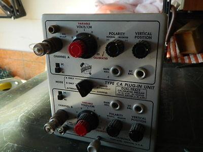 Tektronix Type Ca Plug-in Unit For 500 Series Osciloscope Dual Trace Preamp