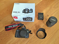 Canon 70D with EF-S17-55mm f/2.8 IS USM in its original box