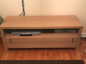 Oak effect TV unit with drawer