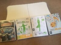 Wii fit board with games
