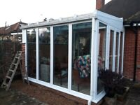 Sold subject to collection. Conservatory. Glass roof. Windows and double doors