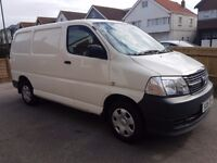 £5500 ono Excellent condition Hiace. FSH. deadlocks. Long MOT. plyed & shelved. 2800kg payload