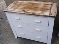 Solid quality wooden 3 draw chest and 1 draw cabinet for sale
