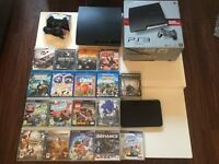 PS3 with games and Blu- Ray dvd's plus extras