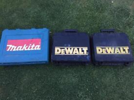 Dewalt and Makita drill cases