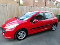 Peugeot 207 in excellent condition CD Player, Radio and Air Con all working, Bluetooth phone connect