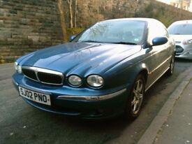 2002 Jaguar X Type Blue, Leather