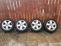 vw genuine alloy wheels took them off from a vw t5 2016