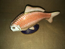 Royal Crown Derby Golden Carp Tropical Fish Paperweight