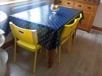 6 Brand New Bright Yellow Chairs