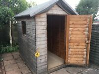 For sale - Wooden tongue & groove garden shed 7ft x 5ft x 6'5 (approx).