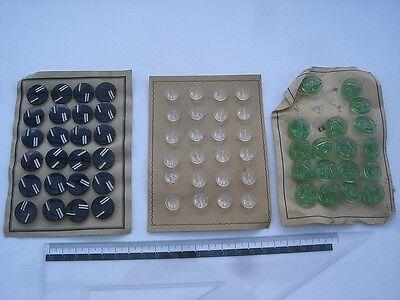 D / uralt Glasknöpfe um 1900 für Puppen Puppenkleidung / aus Lagerfund
