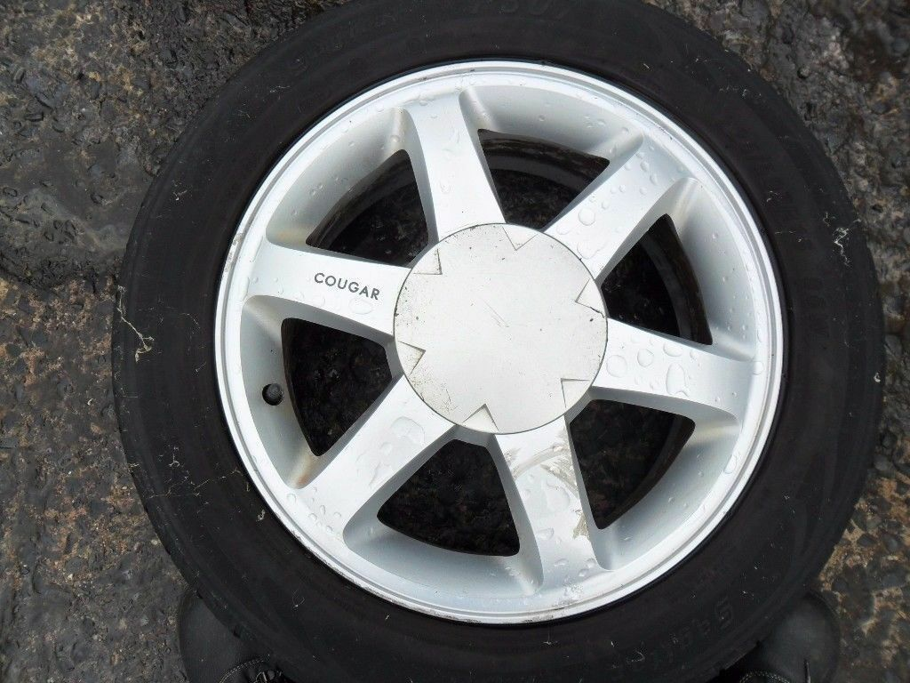 """ford cougar alloys wheels 16"""" sell as a set on just 1"""