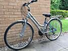 Claud Butler Silver Blue Bike