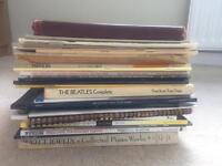Lots of Piano Sheet music, modern and classical, many genre's