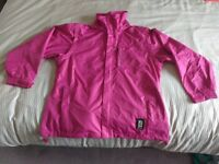 Ladies Pink Waterproof jacket (size 12/14)