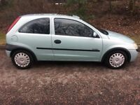2001 Vauxhall CORSA 1.2 16v, 3 Door, Petrol, Manual, MOT 12 Months*, 3 stamps in service book