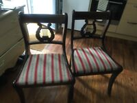Antique English chairs - 2 x