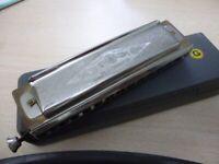 beautiful quality hohner super chromonica harmonica with original hohner case,excellent...