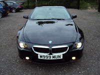 BMW 6 SERIES 630CI AUTO 2DR COUPE WITH SPORT BUTTON BLACK F.S.H LONG MOT 2 KEYS EXTRAS FULLY LOADED