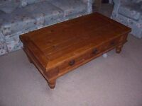 Solid pine coffee table to collect from Swindon (postcode SN3 6AA)