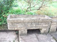 Stone Garden Planters - 6 available - Will Sell Separately **£25 each**