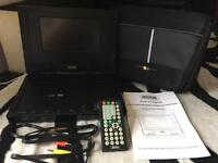 Portable DVD player and iPod docking station