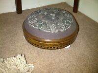 Pair of antique walnut footstools. Excellent condition.