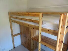Thuka High-Sleeper Bed + Desk + Wardrobe - solid wood