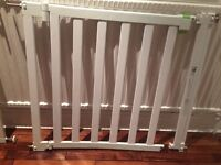 Wide safety gate - no trip bar(good for stairs) mothercare