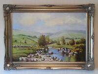 Oil painting. R.Cochrane. Upper Glendun, Co. Antrim.